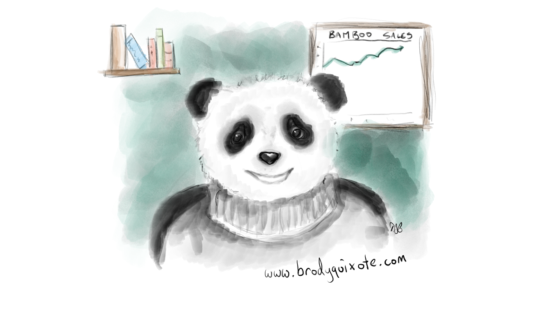 An illustration of a panda employee of the month by brodyquixote