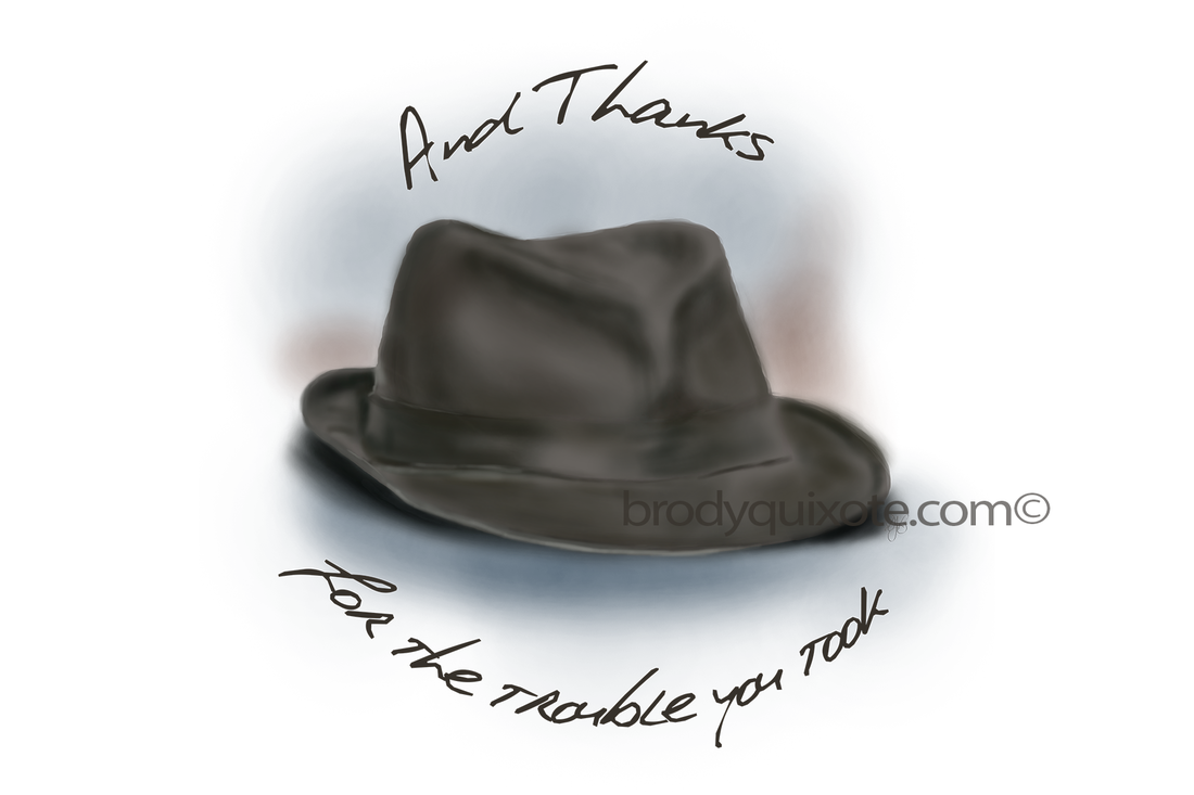 'Hat for Leonard' painting by brodyquixote.