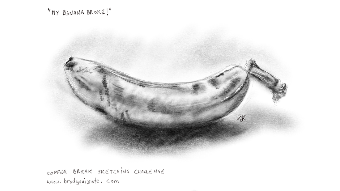 An illustration of a banana by brodyquixote.