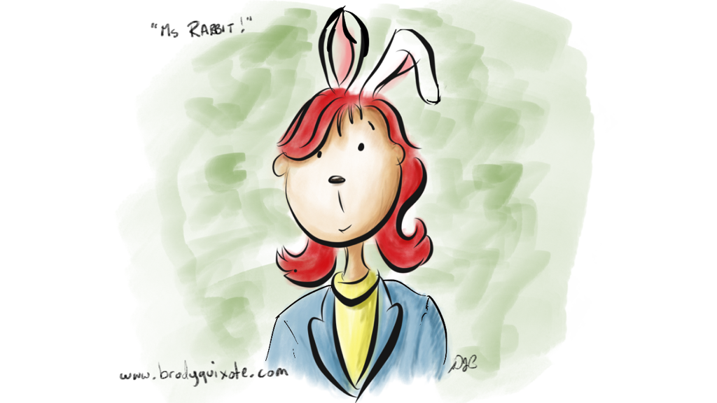 An illustration of Ms Rabbit from the Little Tickles collection by brodyquixote.