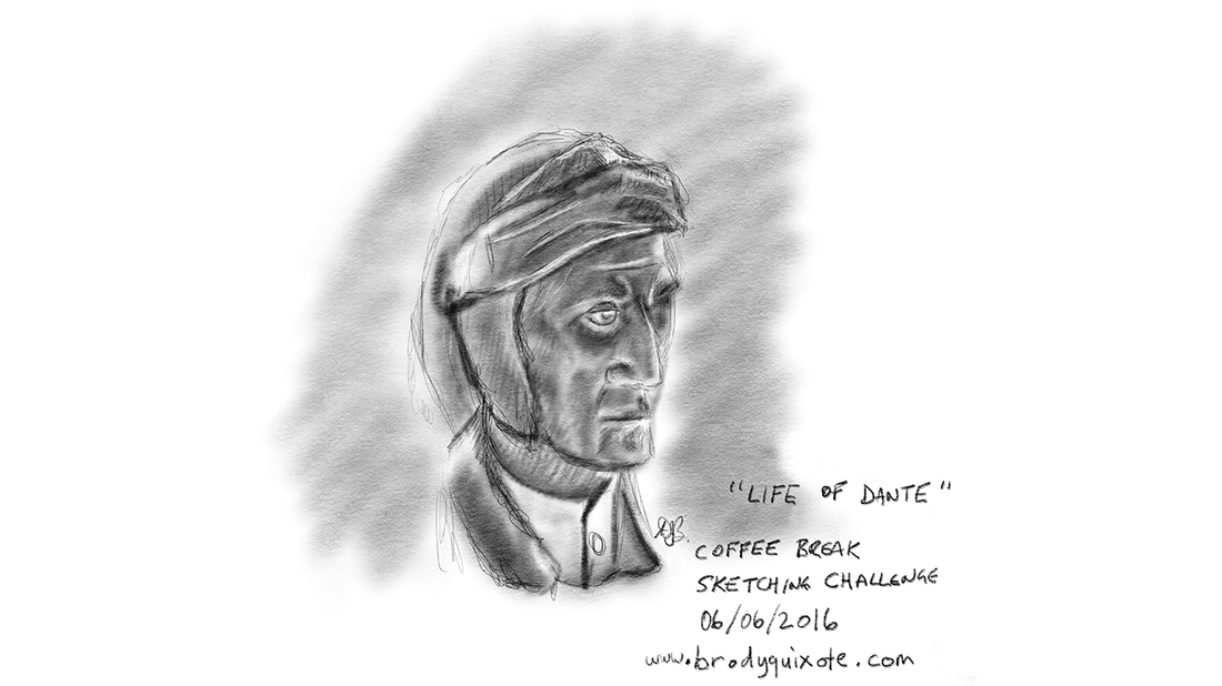 A sketch of the Italian poet Dante Alighieri by brodyquixote