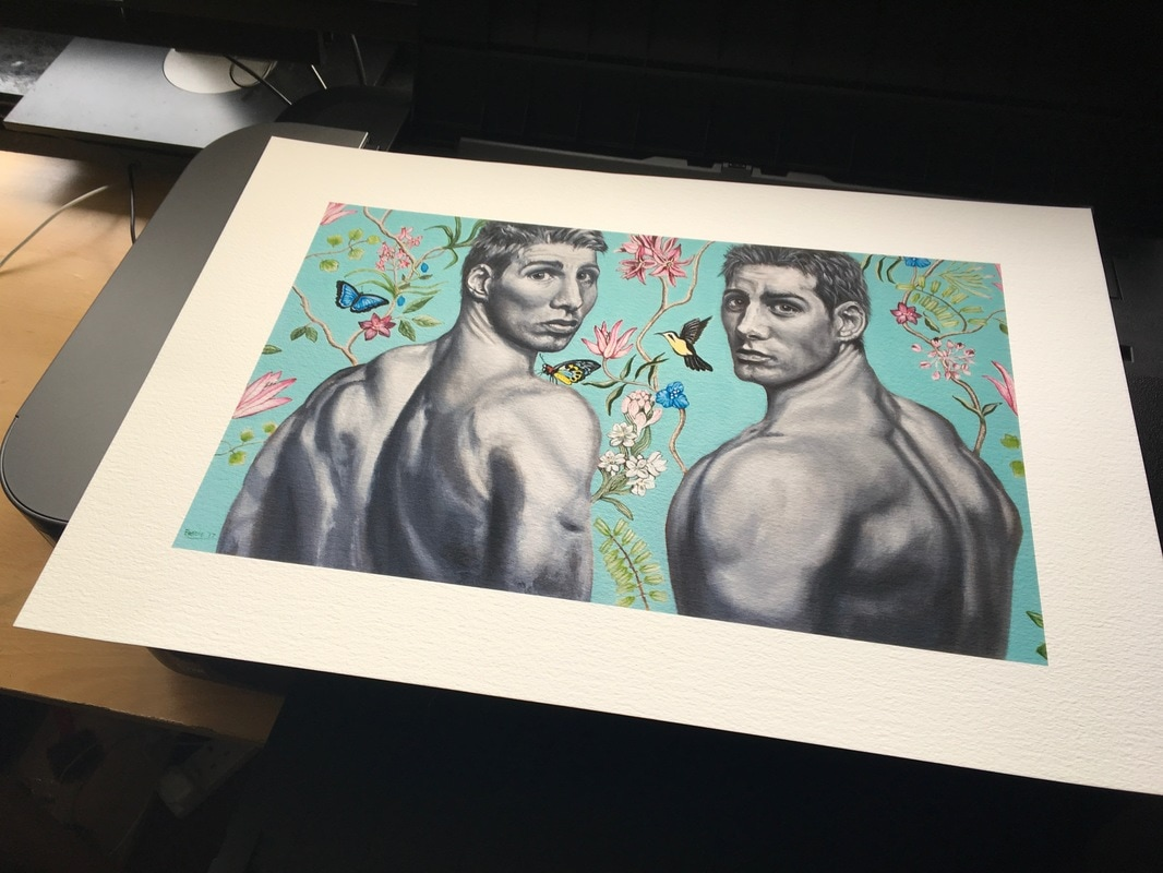 A photograph of a giclee print of