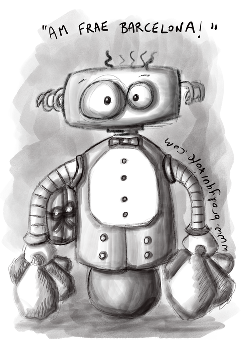An illustration of 'brobblebot 3000' by brodyquixote.