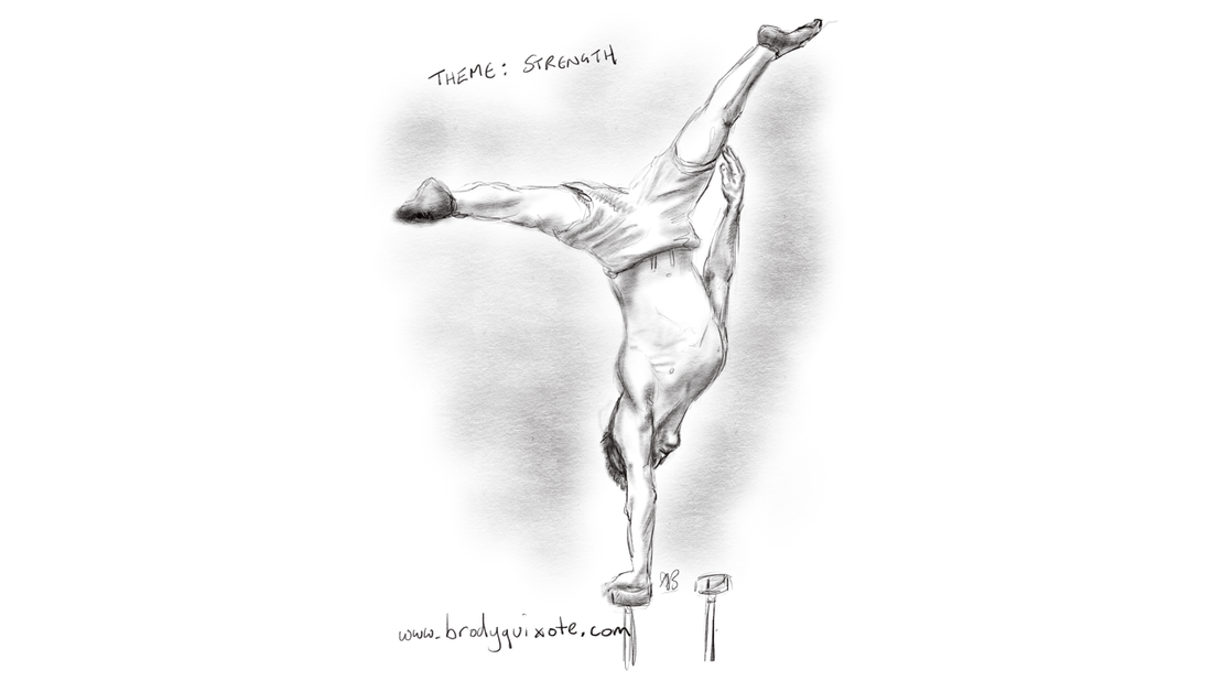 Illustration of a glasgow street gymnast by brodyquixote